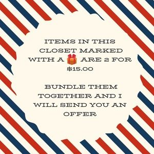 Other - 2/$15 sale